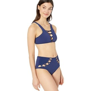 YDX Women's High Neck Bikini Swimsuit Two Piece Reversible Beachwear Set, Flo... - Small