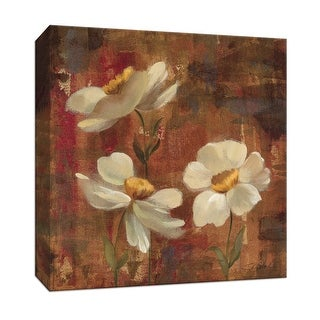 "PTM Images 9-153387  PTM Canvas Collection 12"" x 12"" - ""Floral Trio I"" Giclee Flowers Art Print on Canvas"
