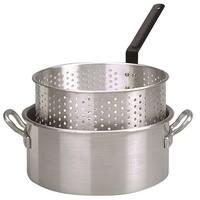 King Kooker #KK2-10 Qt. Alum Fry Pan/Basket -2 Helper Handle - KK2