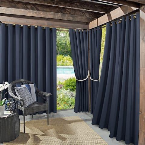 Sun Zero Sailor Indoor Outdoor UV Protectant Room Darkening Grommet Curtain Panel