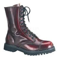 Demonia Men's Rocky 10 Burgundy Rub Off Leather