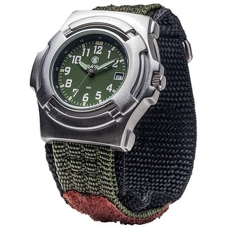 Smith & Wesson Lawman Watch Stainless Steel Caseback Glow 40mm Olive Drab Face - Black