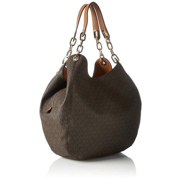 249ee00d5d36 Shop MICHAEL Michael Kors Fulton Large Logo Shoulder Bag Brown - One ...