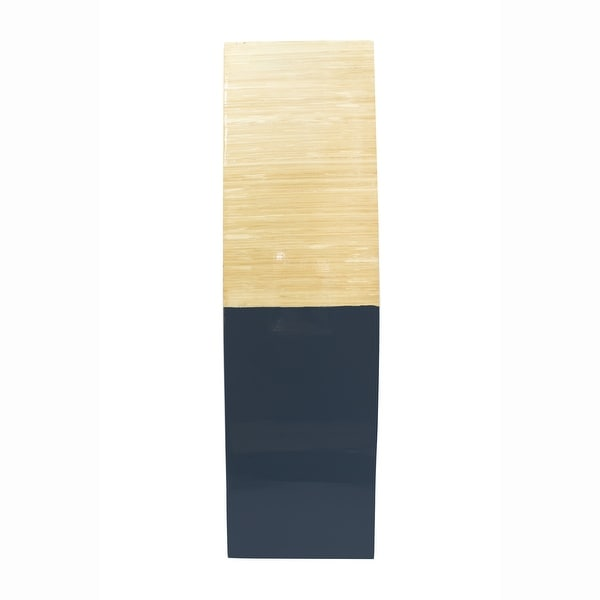 """24"""" Natural Wood Bamboo Vase with 2 Tones"""