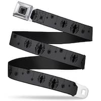 Ultimate Spider Man Spider Logo2 Full Color Gray Black Spiders Gray Black Seatbelt Belt