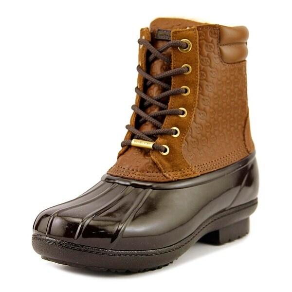Michael Michael Kors Easton Bootie Women Dk Caramel Boots