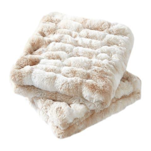 Shar Pei FauxFur Throw Pillow Shell Combo Set