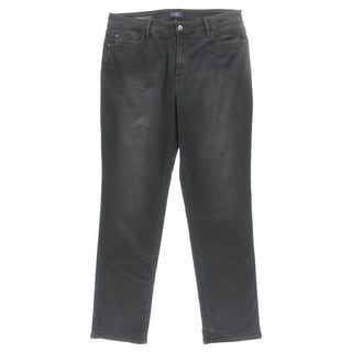 NYDJ Womens Marilyn Classic Straight Jeans Straight Gray Wash - 16W