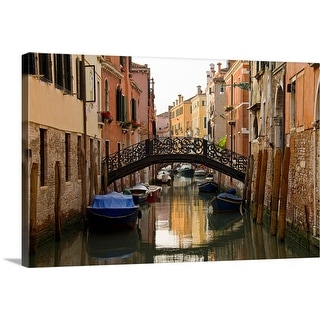 """""""Italy, Venice, Scenic view of bridge above canal"""" Canvas Wall Art"""