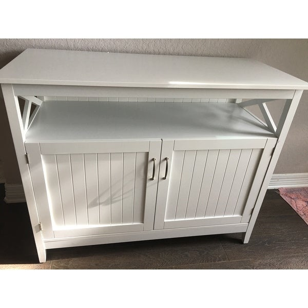 Shop Simple Living Southport White Beadboard Buffet   On Sale   Free  Shipping Today   Overstock.com   8847157