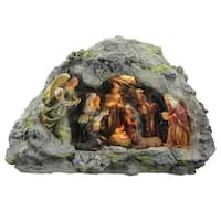 "14.5"" Traditional Religious Christmas Nativity Scene in a Cave Tabletop Decoration"