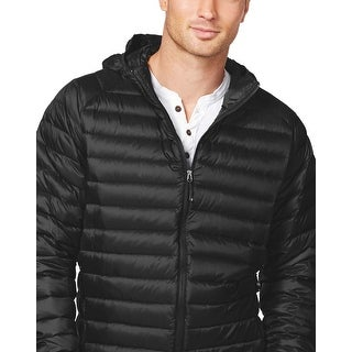 Weatherproof 32 Degrees Black Solid Packable Quilted Down Jacket Small S