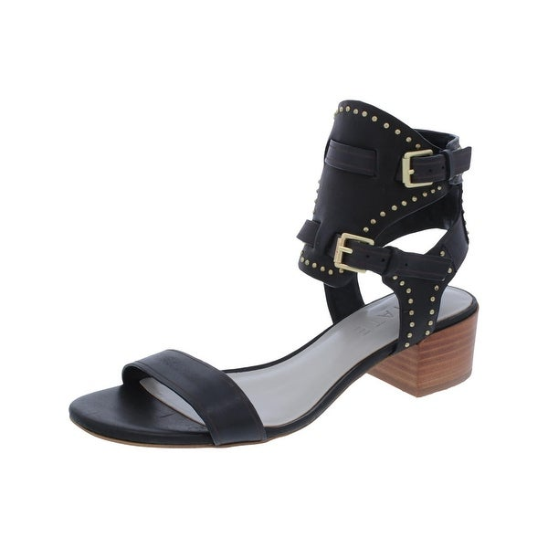 1.State Womens Rylen Strappy Sandals Block Heel Buckle