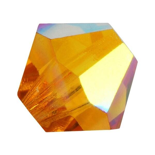 Preciosa Czech Crystal Beads 6mm Bicone 'Topaz AB' (20)