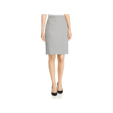 Hugo Boss Womens Pencil Skirt Printed Knee-Length - 10