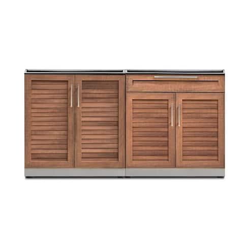 NewAge Products Outdoor Kitchen 64 Inch W x 24 Inch D 2 Piece Set