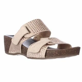 naturalizer Carena Wedge Slide Sandals - Taupe