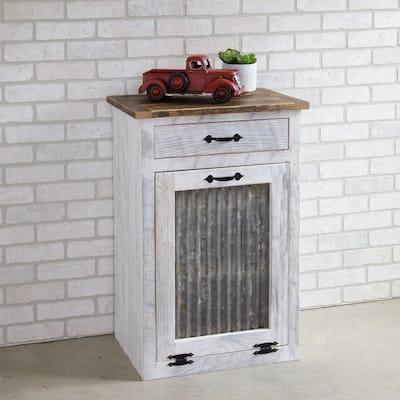 Catchfly Garbage Bin Cabinet with Drawer