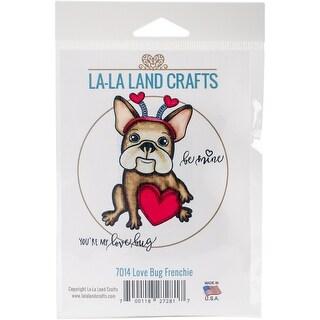 "La-La Land Cling Stamps 4.5""X3.5""-Love Bug Frenchie"