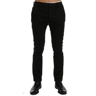 Costume National Costume National Black Slim Fit Cotton Stretch Pants