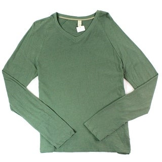 ALTERNATIVE NEW Green Mens Size Small S Solid Pullover V-Neck Sweater