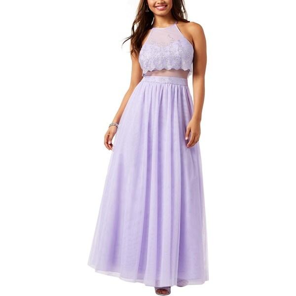 a117a78d62e Shop Teeze Me Womens Juniors Formal Dress Glitter Mesh - On Sale ...