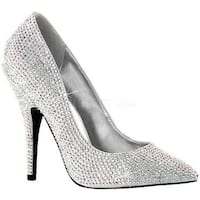 Pleaser Women's Seduce 420RS Silver Satin