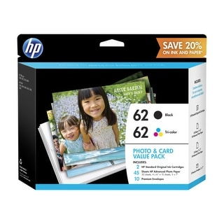 HP 62 Photo and Card Value Pack 62 Photo and Card Value Pack