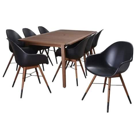 Amazonia Charlotte 9-Piece Outdoor Dining Set Patio Furniture Rectangular