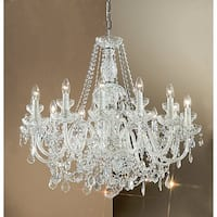 "Classic Lighting 8276-CH 26"" Crystal All Glass Chandelier from the Bohemia Collection"