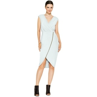 RACHEL Rachel Roy Asymmetrical Zip Jersey Dress - s