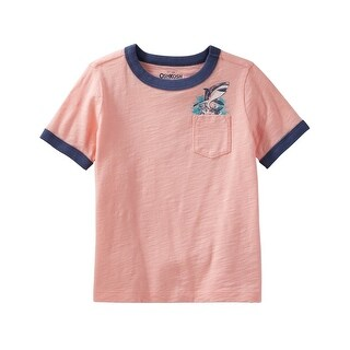 OshKosh B'gosh Little Boys' Jawesome Jersey Tee, Pink, 4-Toddler