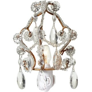"""Set of 2 Gold and Silver Decorative Chandelier Night Light with 5"""""""