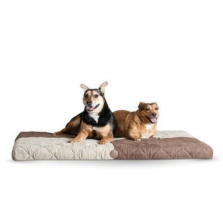 """K&H Pet Products Quilted Memory Dream Pad 0.5"""" Medium Chocolate / Tan 27"""" x 37"""" x 0.5"""""""