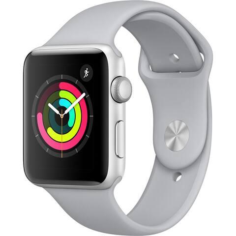 Refurbished Apple Watch 42mm Series 3 GPS Silver & Fog Band