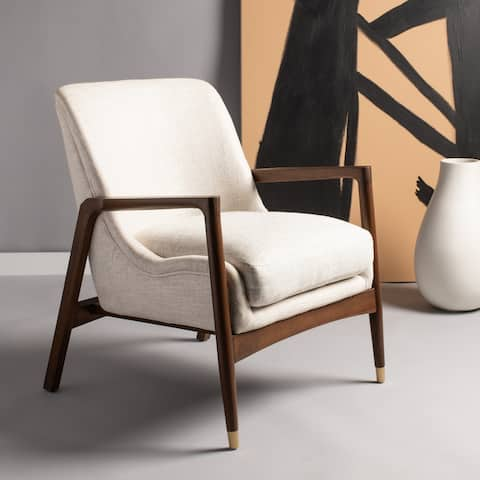"Safavieh Couture Flannery Mid-Century Accent Chair - 27.2"" W x 29.5"" L x 32.3"" H"