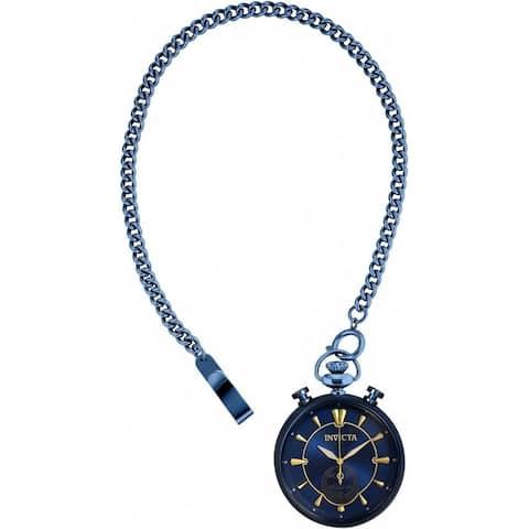 Invicta Men's 34455 'Vintage' Blue Stainless Steel Watch - Black