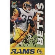 Signed Bettis Jerome Los Angeles Rams 5 12 x 8 12 Promo autographed