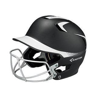 Easton Junior Z5 Grip 2Tone Batters Helmet with BBSB Mask (Black/White)