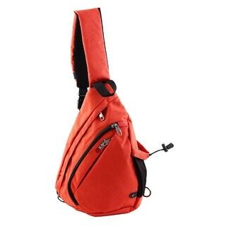 KAKA Authorized Trekking Crossbody Backpack School Triangle Chest Pack Brick Red