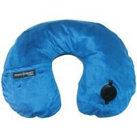 Travel Smart By Conair Ez Inflate Fleece Neck Rest (navy)