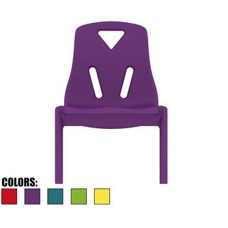 "2xhome - Kids Size Plastic Side Chair 10"" Seat Height Teal Chair"