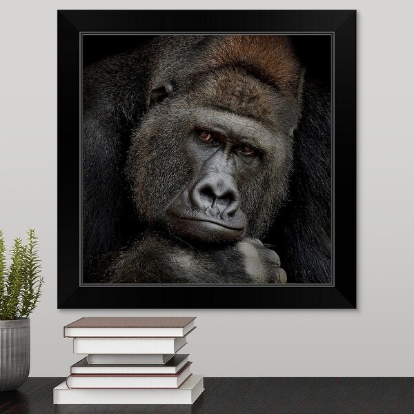 """""""One Moment In Contact"""" Black Framed Print"""