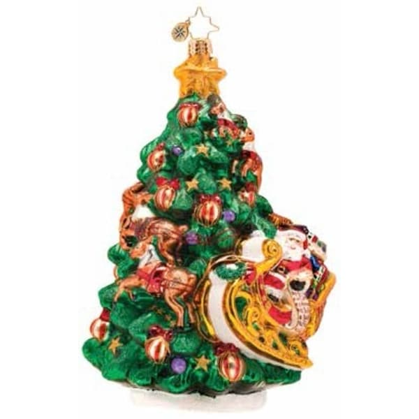 Christopher Radko Glass Wrappin' Around Christmas Tree Ornament #1017366