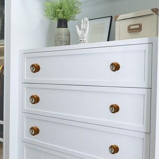 Ceramic Knobs Vintage Round Drawer Pull Handle Cupboard Cabinet Knob Brown