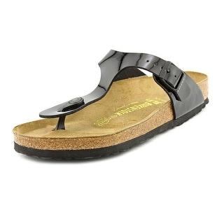 Birkenstock Gizeh Women Open Toe Synthetic Black Thong Sandal