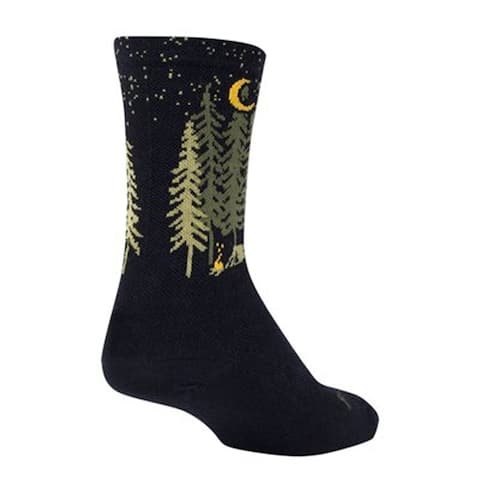 SockGuy Wool Crew 6in Camper Cycling/Running Socks
