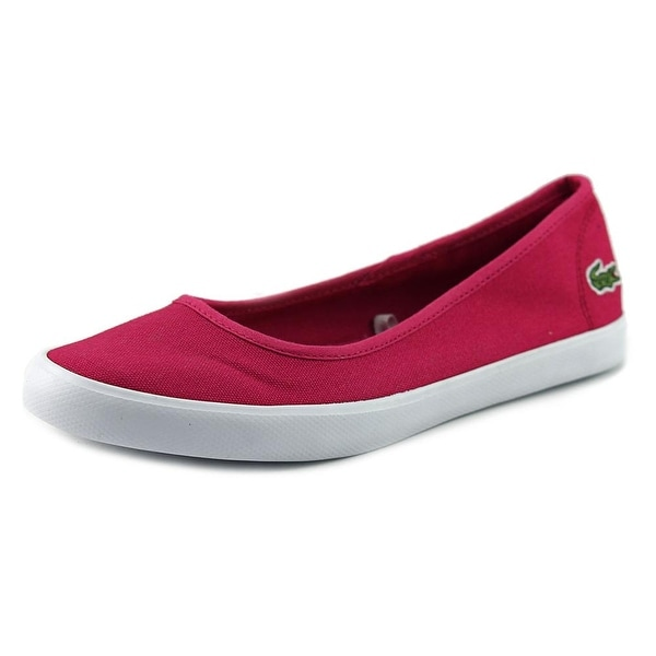 f5fd2e113 Shop Lacoste Marthe Women Round Toe Canvas Pink Flats - Free ...
