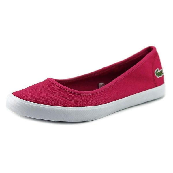 04588d6071909 Shop Lacoste Marthe Women Round Toe Canvas Pink Flats - Free ...