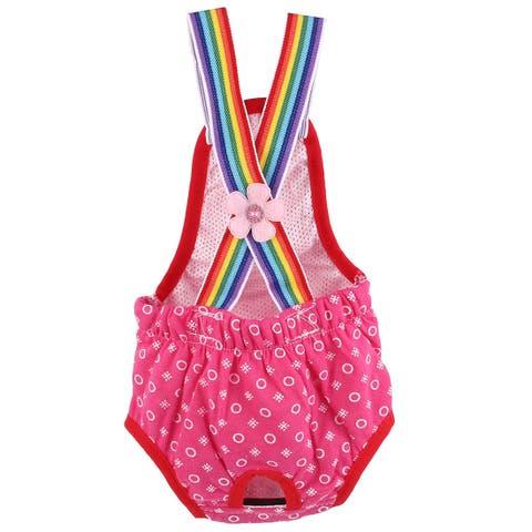 fab6ea1d963e9 Pet Cotton Blends Dots Sanitary Pantie Underwear Doggie Dog Diaper Pants  Red S